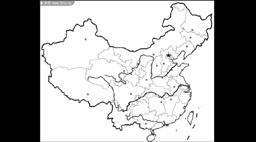 求高清中国地图轮廓图,要有各省界线的那种.图片