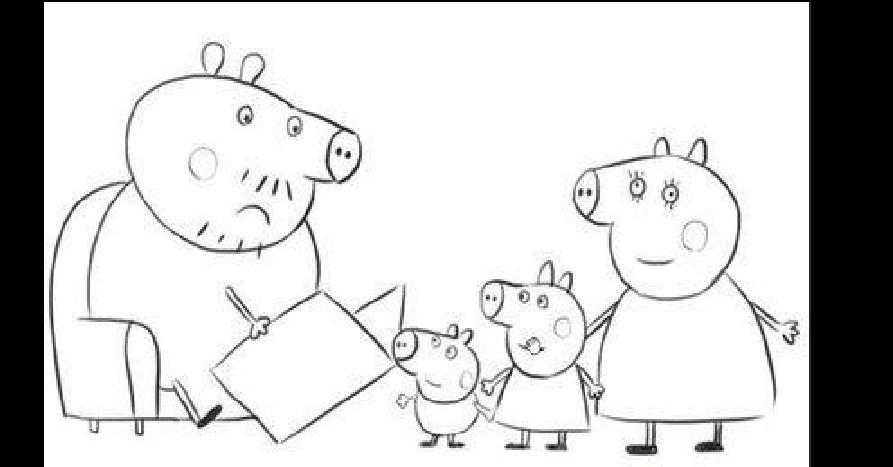 小猪佩琪涂色画