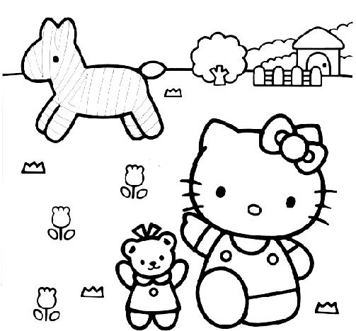 Hello Kitty 涂色(竖版)_word文档在线阅读与下载