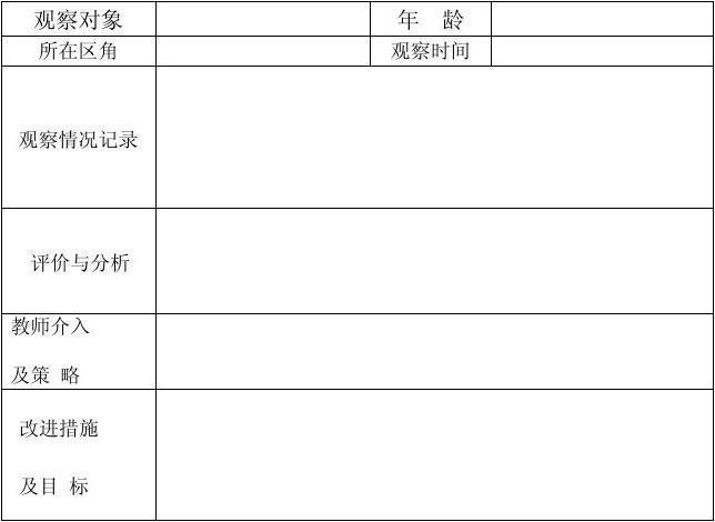 初中網會考活動幼兒教育少兒英語新華電腦文檔角分類觀察記錄表所有幼兒園區圖片