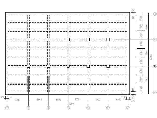 三层仓库钢筋混凝土现浇单向板肋梁楼板盖设计图片