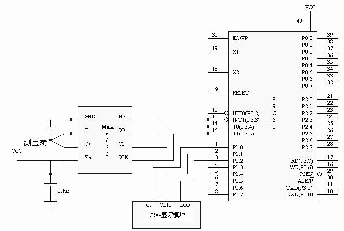 基于max6675的数字温度计设计图片