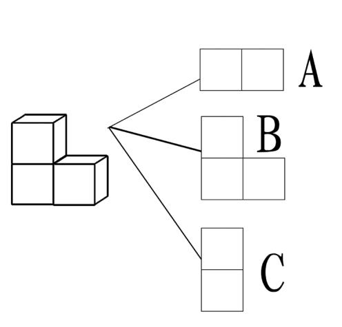 2014年人教版小学二年级数学上第五单元观察物体检测题