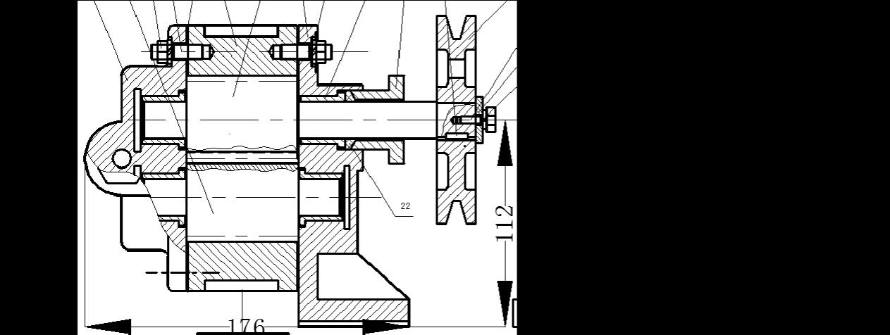 齿轮油泵和虎钳装配图cad图片