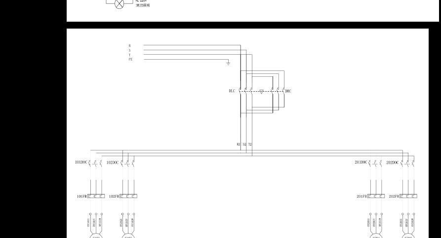 3层7车位升降横移类立体车库电气原理图