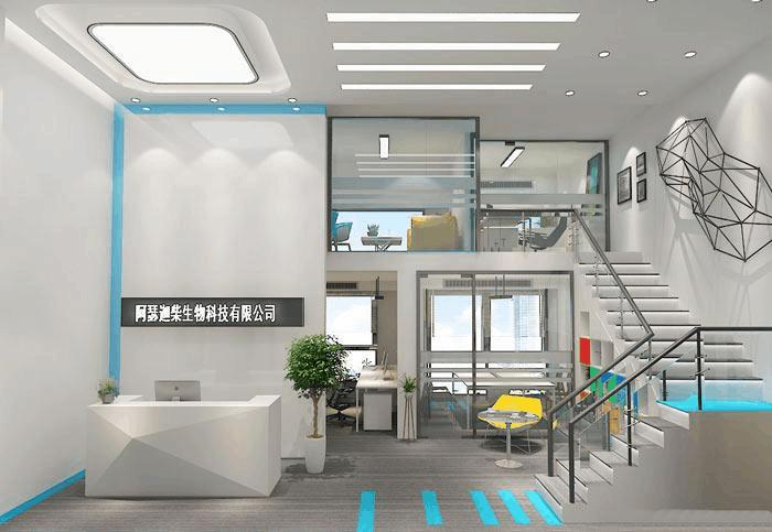 生物科技公司loft风格办公室装修设计案例效果图图片