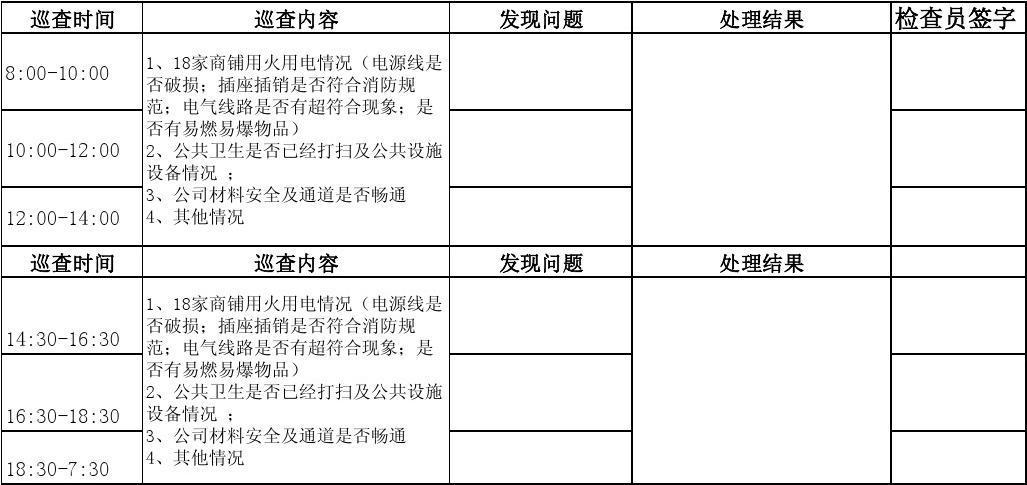 消防安全巡查记录表_word文档在线阅读与下载