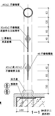 扶手高度_玻璃栏杆扶手节点