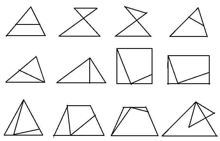 相似三角形基本圖形 練習題圖片