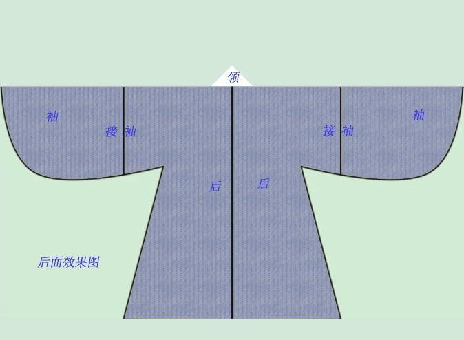汉服披风制作示意图图片