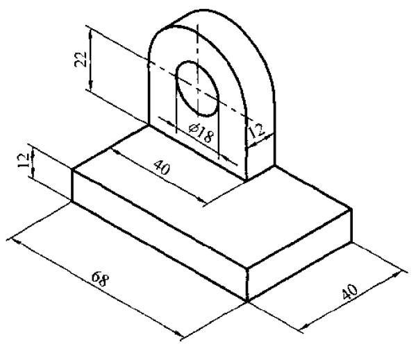 立体图绘制组合体的三视图图片