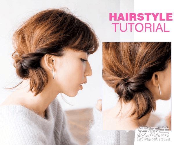 扭转侧扎发简单好看,不需要是搭配发饰也能提升整个人的气质,会是新年图片