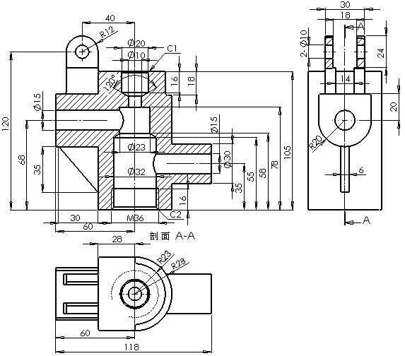 三维实体设计上机测试试卷 下列图1~5所示是某一型号的手压阀产品的图片