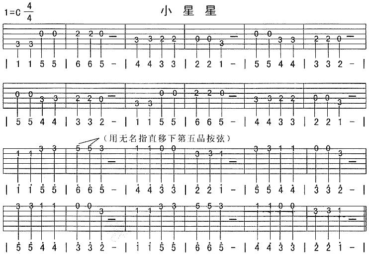 小星星竖笛简谱 吉他谱简单 小星星简谱双手 小星星钢琴简谱 小星星图片