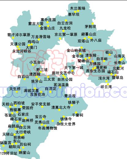 中国旅游景点地图大全