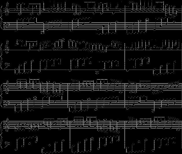 卡农 钢琴曲谱