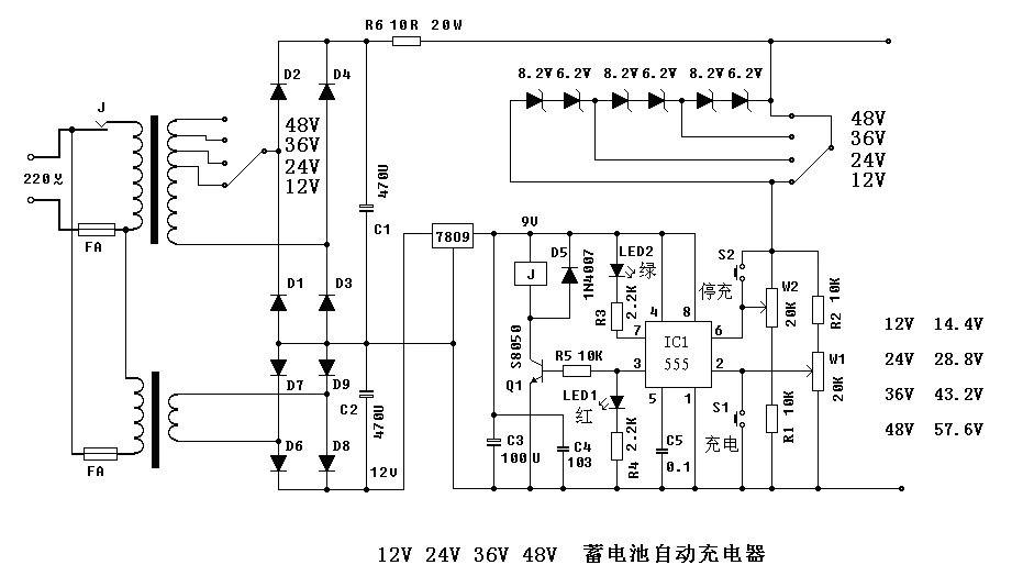 无忧文档 所有分类 12v 24v 36v 48v自动充电器  蓄电池充电要求:12v图片