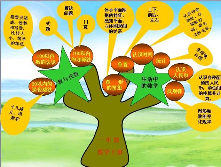 知识守则一数学年级树有哪些小学生小学图片