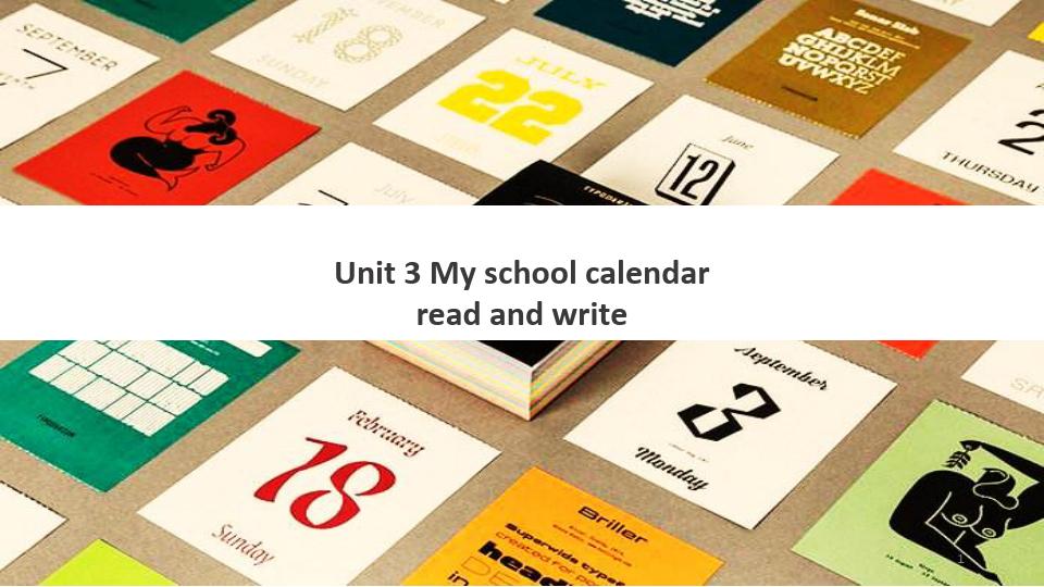 五年级英语下册课件-Unit 3 My school calendar(4)-人教PEP版
