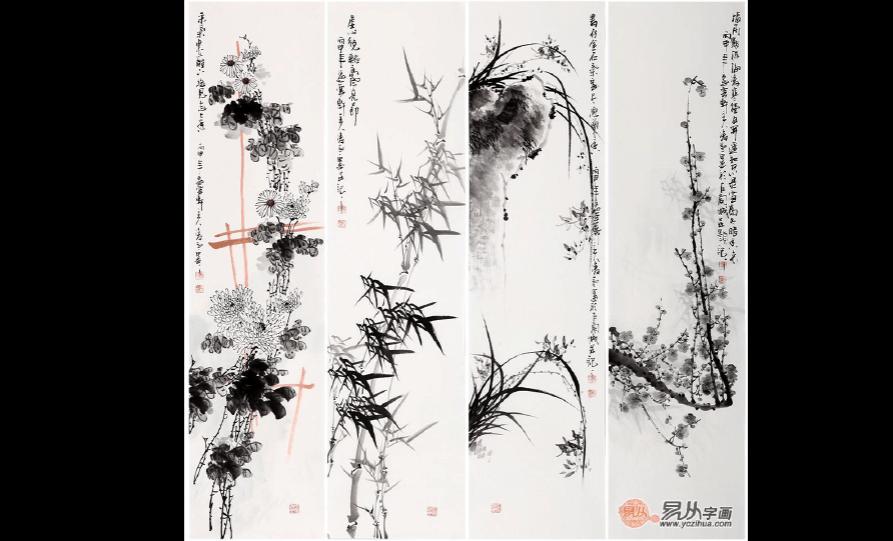 梅兰竹菊哪位画家画的好,当代名家梅兰竹菊作品请鉴赏图片