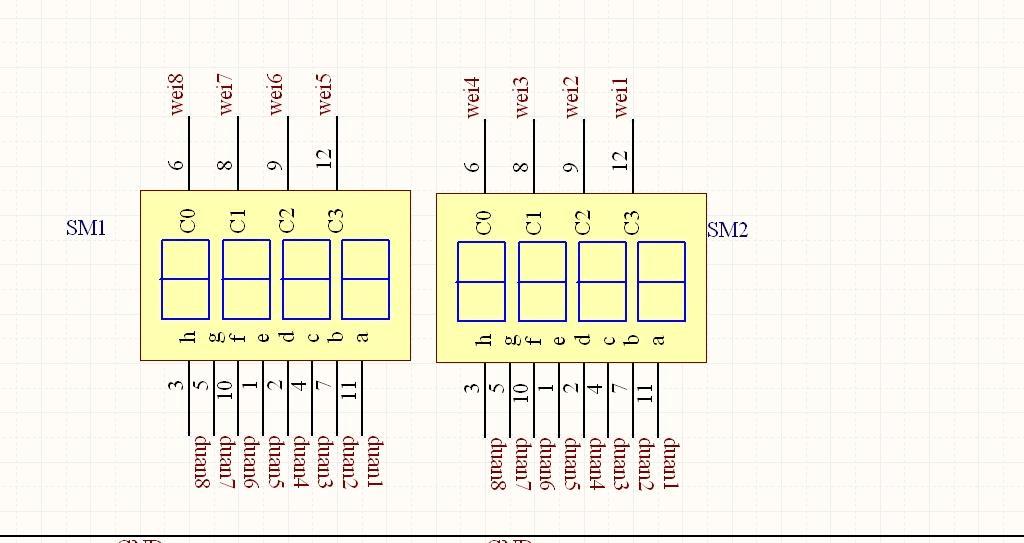 2位数码引脚图_数码管引脚图