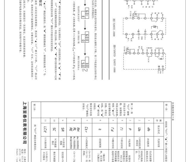上海亚泰XMT1000系列温控器说明书