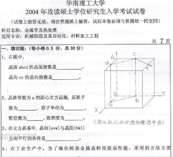 华南理工大学2004(802).doc