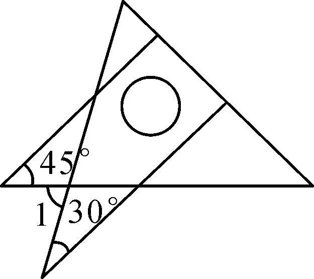 (2016·内江) 将一副直角三角板如图放置,使含30°角的三角板图片