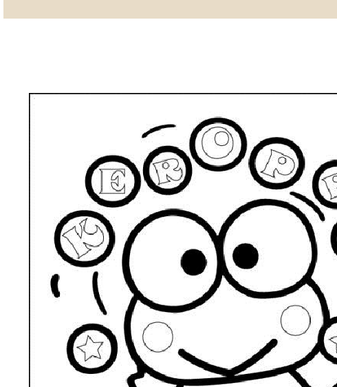 keroppi coloring pages free to print -