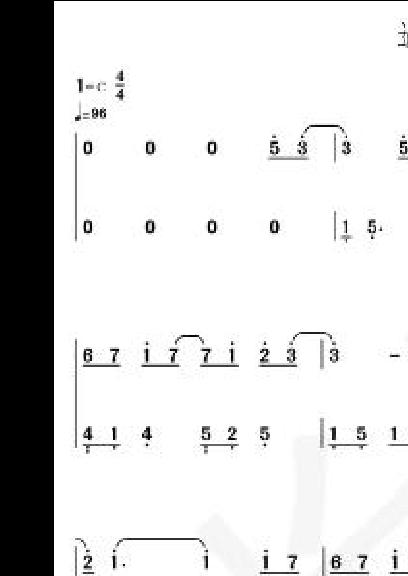 双手钢琴简谱超简单图片