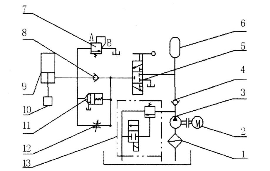 实现了用小尺寸的主控手动换向阀控制大吨位电液锤的目的.图片