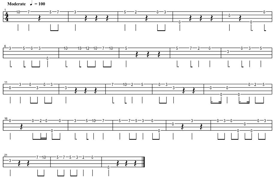 梁祝协奏曲尤克里里c调单音谱