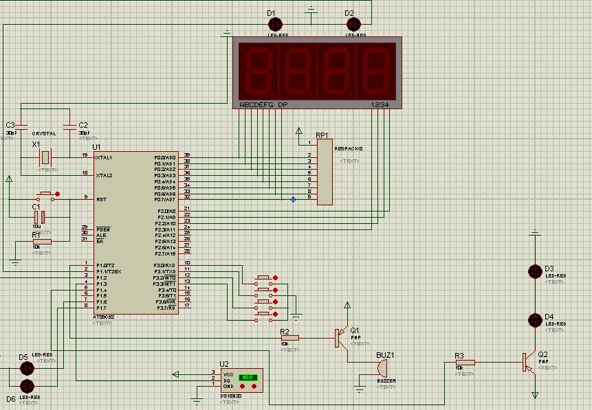 基于stc89c52单片机的数字温度计(电路图&代码)图片