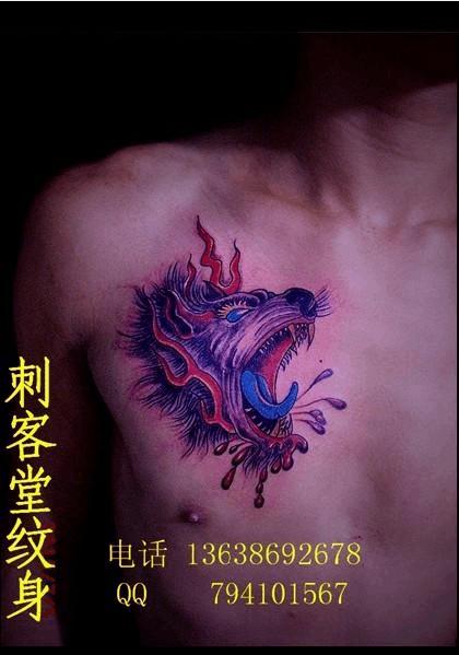 狼头纹身图案