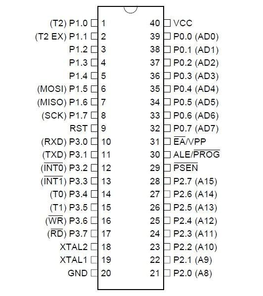 at89s52引脚图