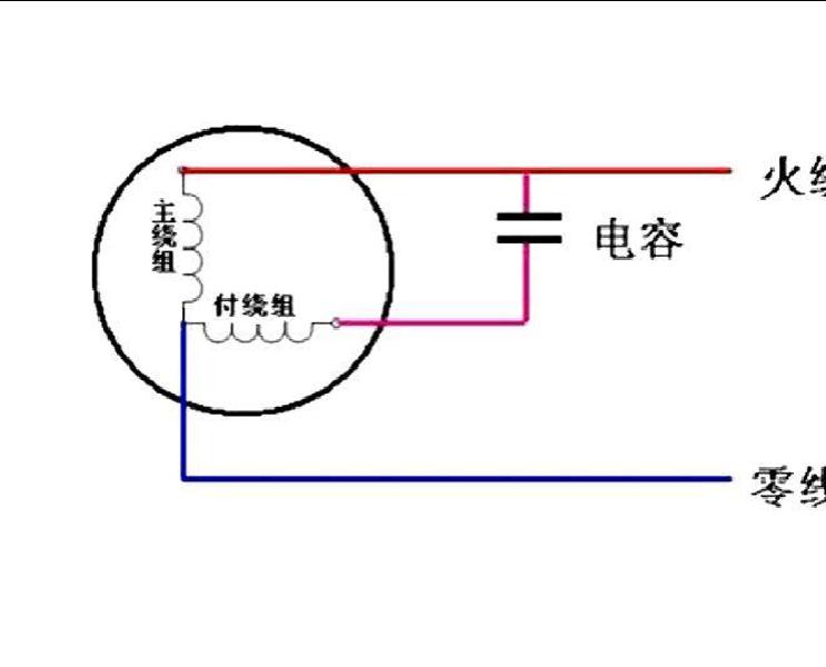 单相电容启动电机接线图图片