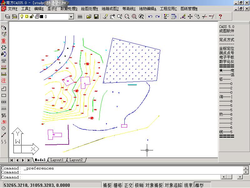 用CASS绘制地形图_详细铁道过程建筑设计院图片