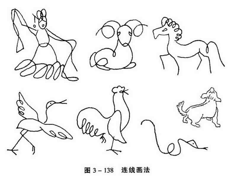 基本的 简单的 风景  人物 动物 简笔画图片
