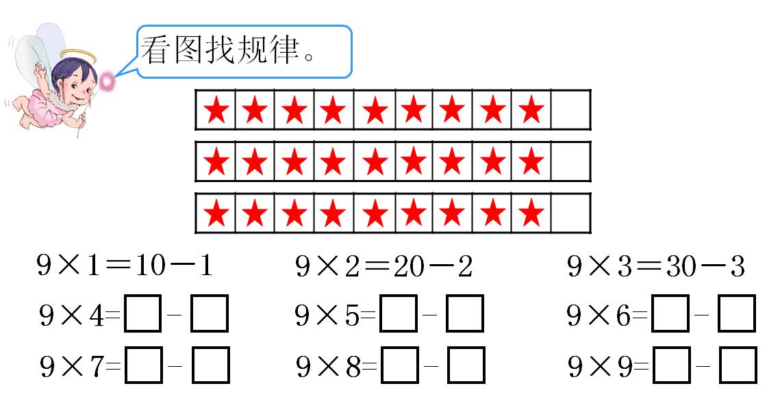 《9的乘法口诀》课堂探究