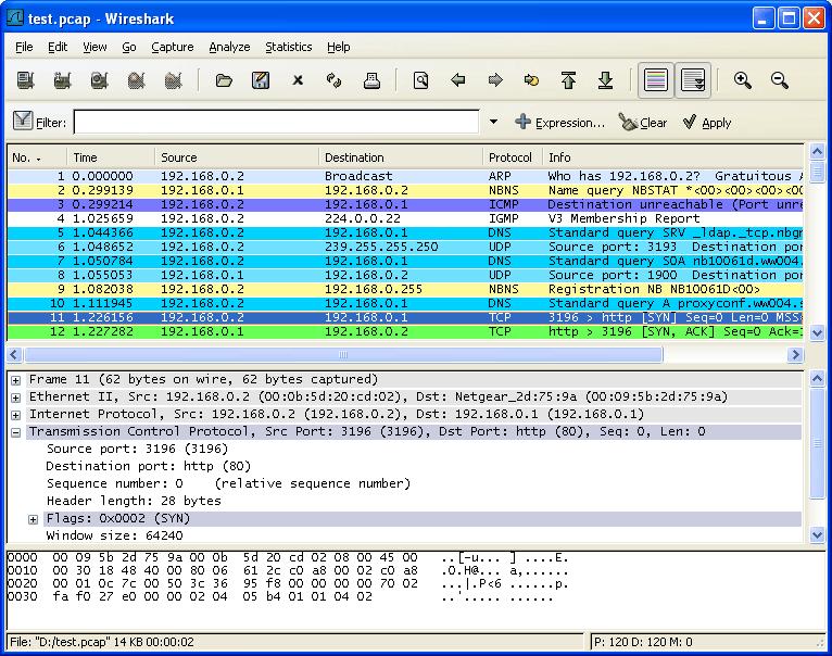 Wireshark中文简明使用教程