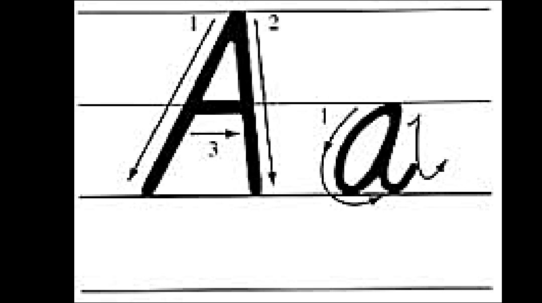 26個英語字母的書寫筆畫及筆順ppt圖片