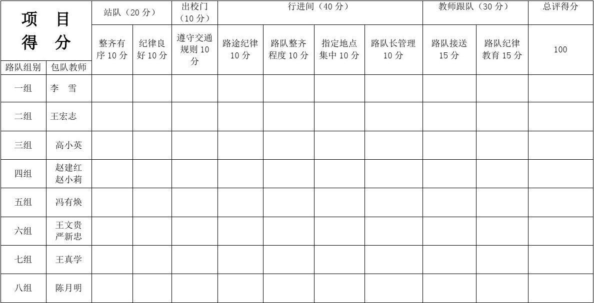 闫家湾文档路队v文档评比表_word小学在线阅读玉小学丰台林图片