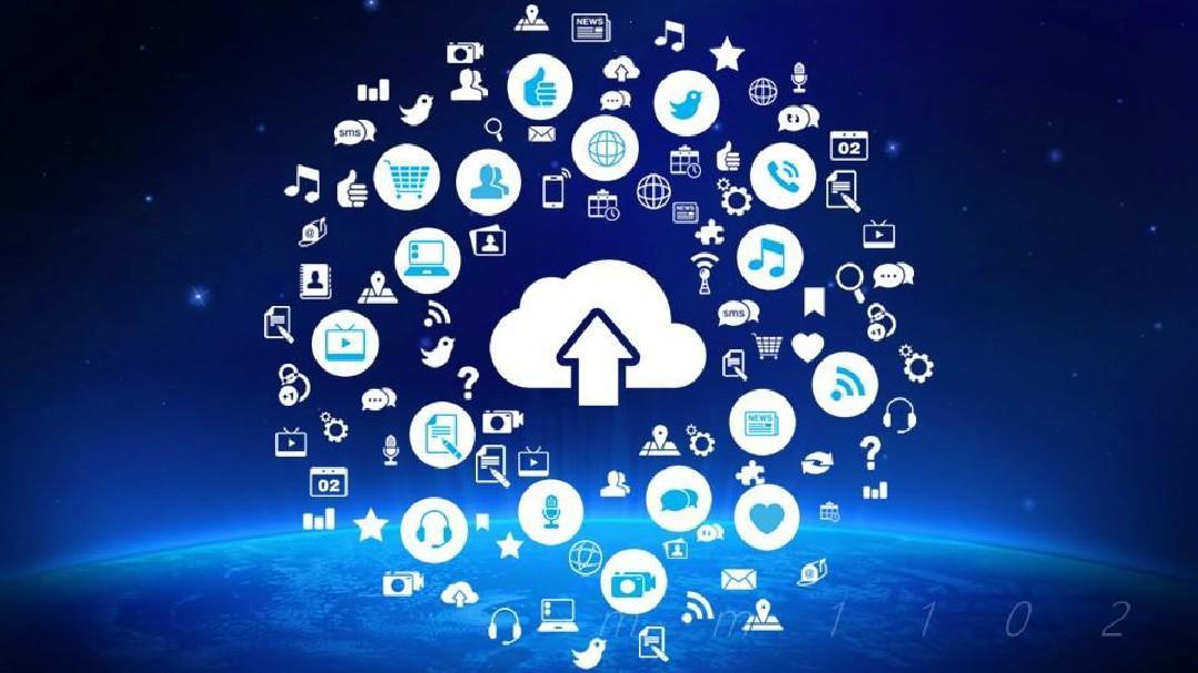 云计算服务ppt模板商务大数据概念前沿技术P