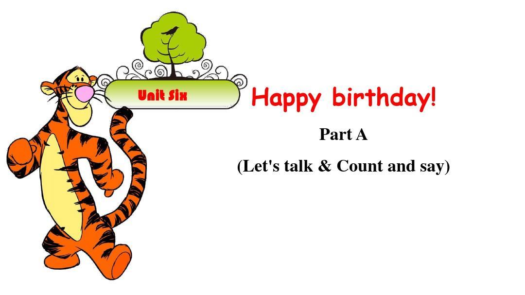 人教版PEP 英语三年级上册   Unit 6  Happy birthday!