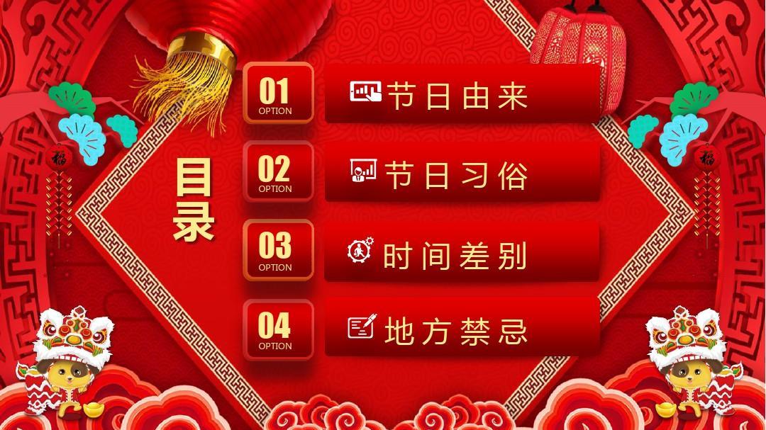 民俗新年春节习俗中国年传统文化模板ppt初中历史红色三国鼎立课后反思图片