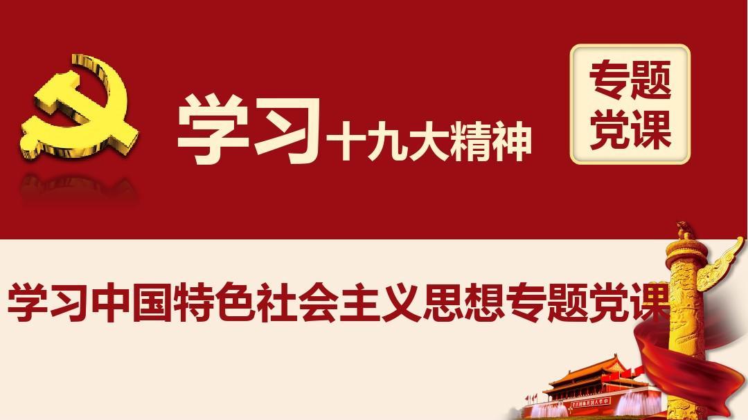 学习新时代中国特色社会主义思想专题党课