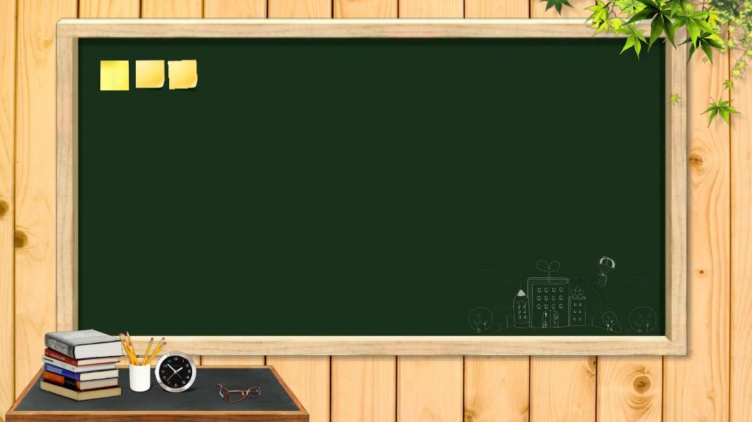 课堂上的黑板和粉笔字背景的教育学习ppt模板图片