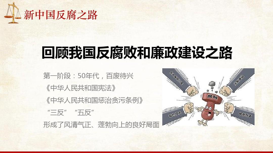 新中国反腐之路党课培训ppt模板