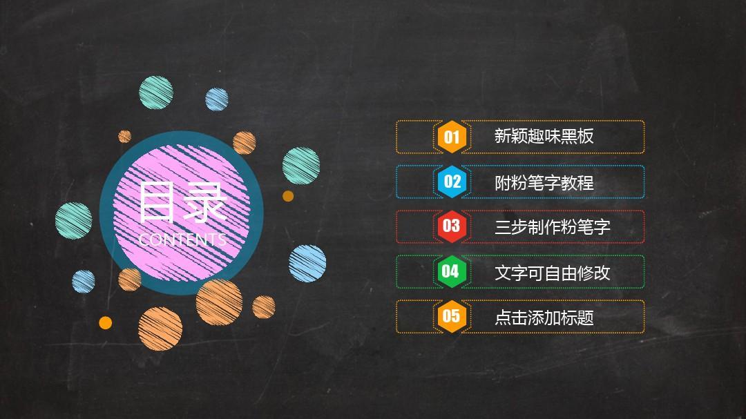 创意黑板教学教师公开课ppt模板图片