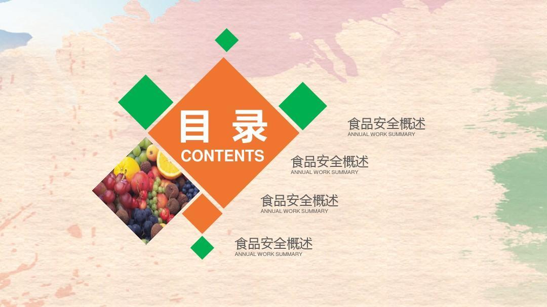 食品安全ppt模版(精品)图片